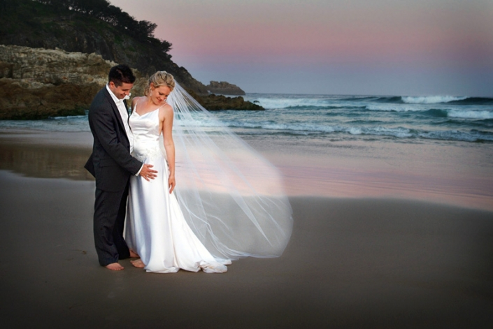 wedding photography beach brisbane