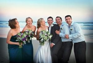 wedding photography brisbane beach