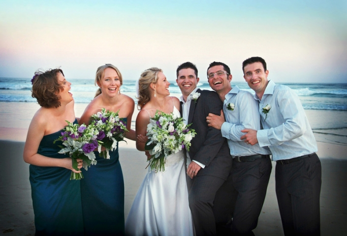 wedding photography brisbane beach