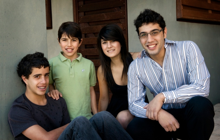 teen family siblings relaxing at home in Brisbane during isolation