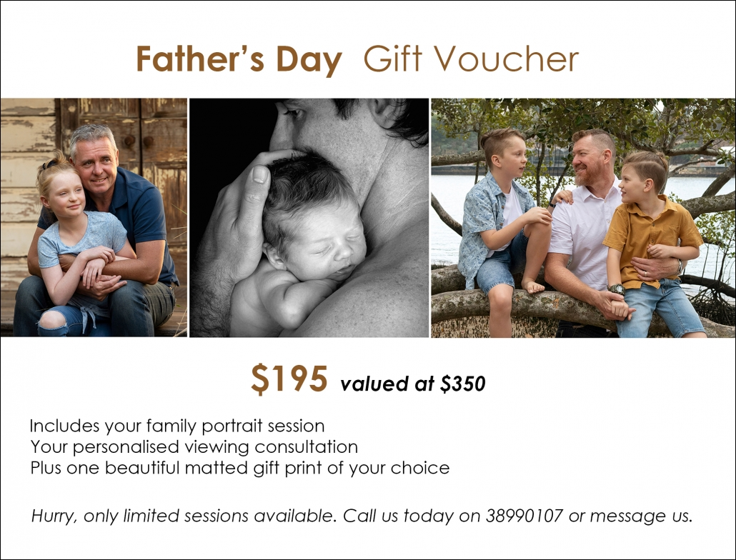 gift voucher for Father's Day special