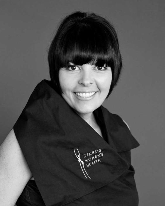 black and white professional medical headshot in Brisbane studio