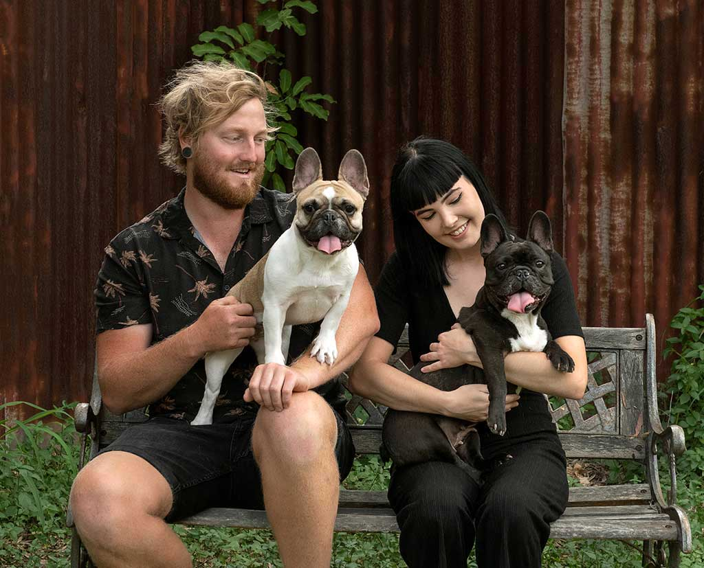 couples photography with pets brisbane southside