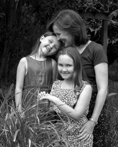 mother and daughter photos black & white