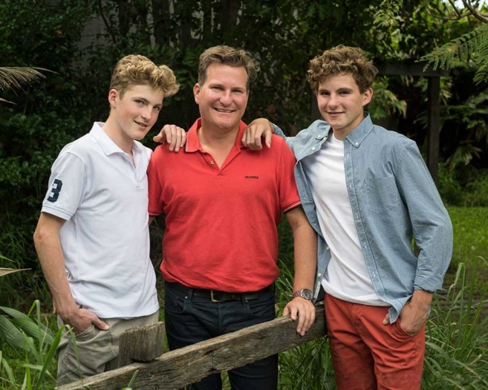 Father and sons family photoshoot Brisbane