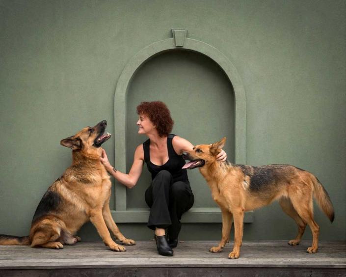 Dog friendly headshot photography studio