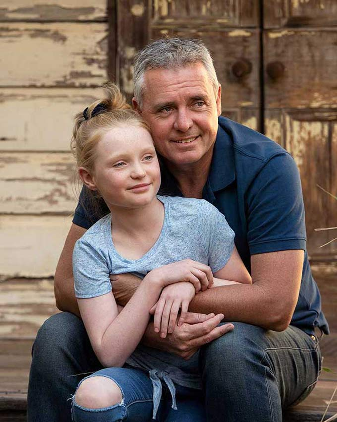 father and daughter family photoshoot brisbane