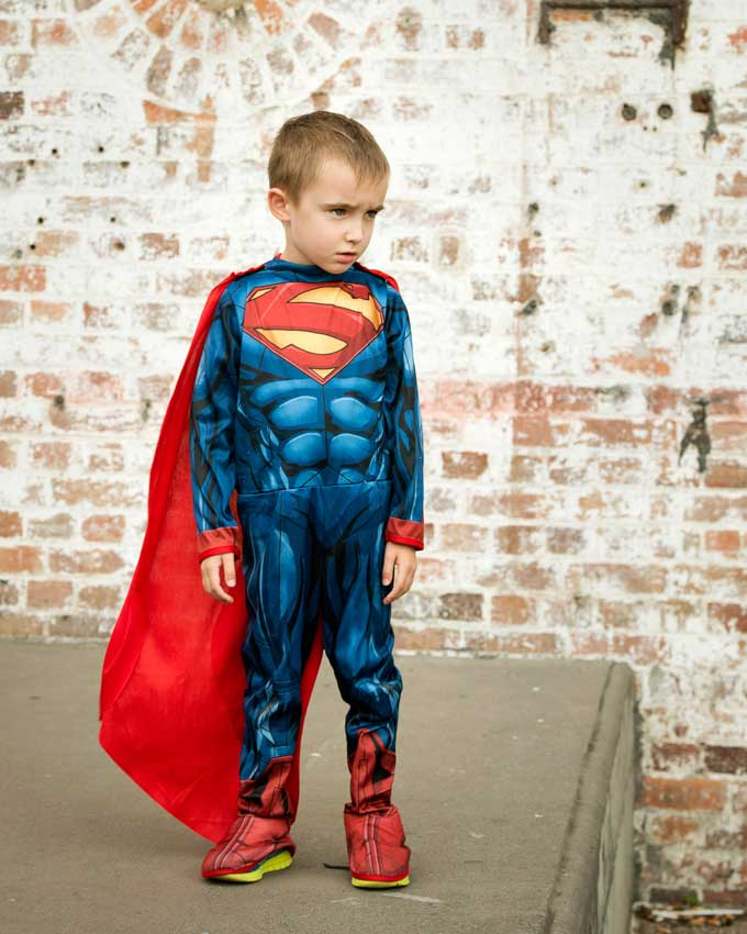 Brisbane superhero alter ego photoshoot for your kids
