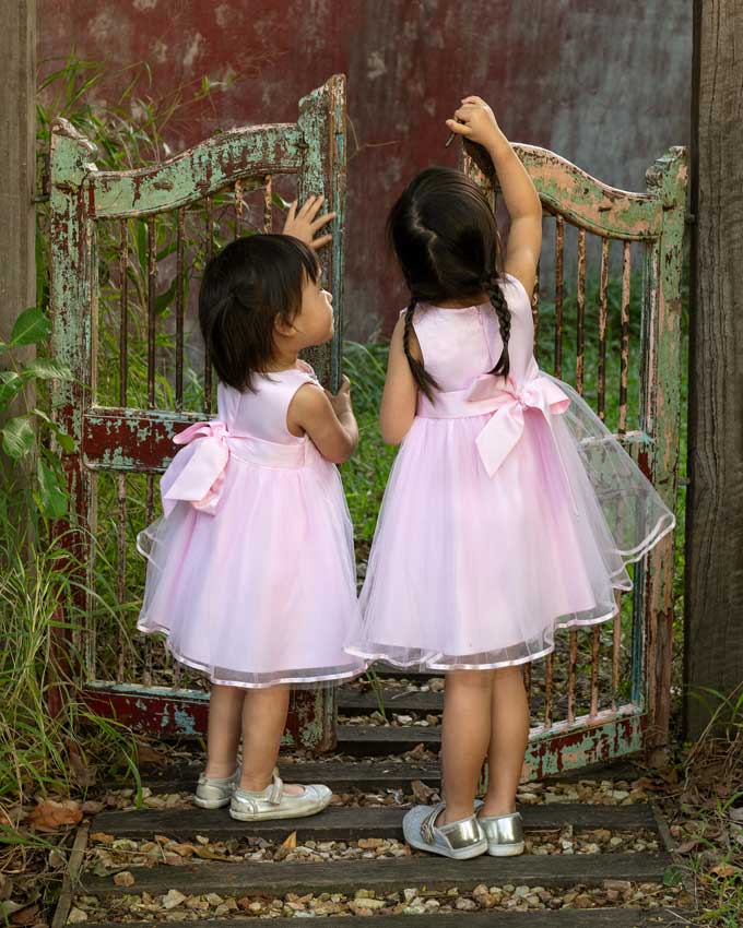 pretty party dress children portraits Coorparoo