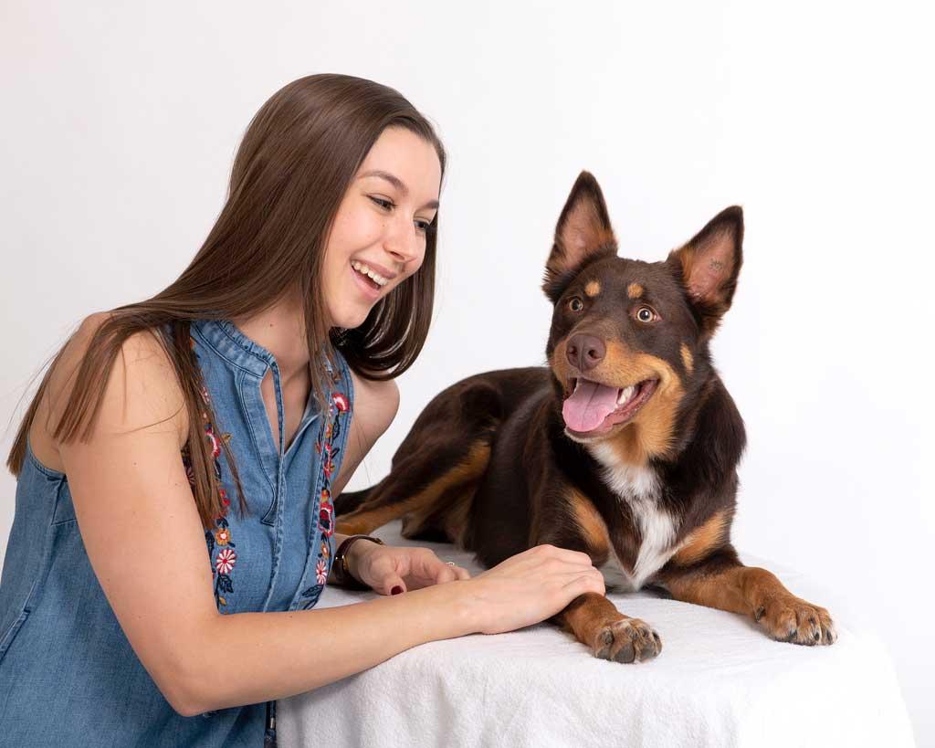 Brisbane-teenage-photoshoot with pets